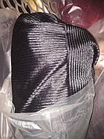 Чехлы меховые искуственная Норка черная полоска (полный комплект)
