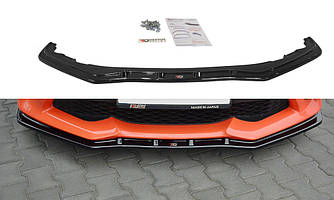 Диффузор сплиттер Toyota GT86 переднего бампера губа элерон (V3)