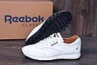 Мужские кожаные кроссовки в стиле Reebok Classic White Pearl, фото 4