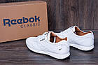 Мужские кожаные кроссовки в стиле Reebok Classic White Pearl, фото 6