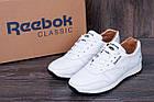 Мужские кожаные кроссовки в стиле Reebok Classic White Pearl, фото 2