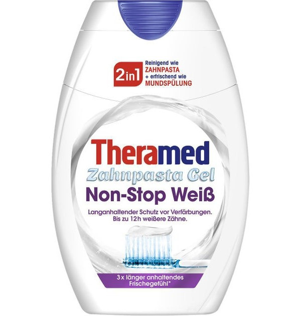 Зубна паста + ополіскувач Theramed 2in1 Non - Stop weib 75 ml