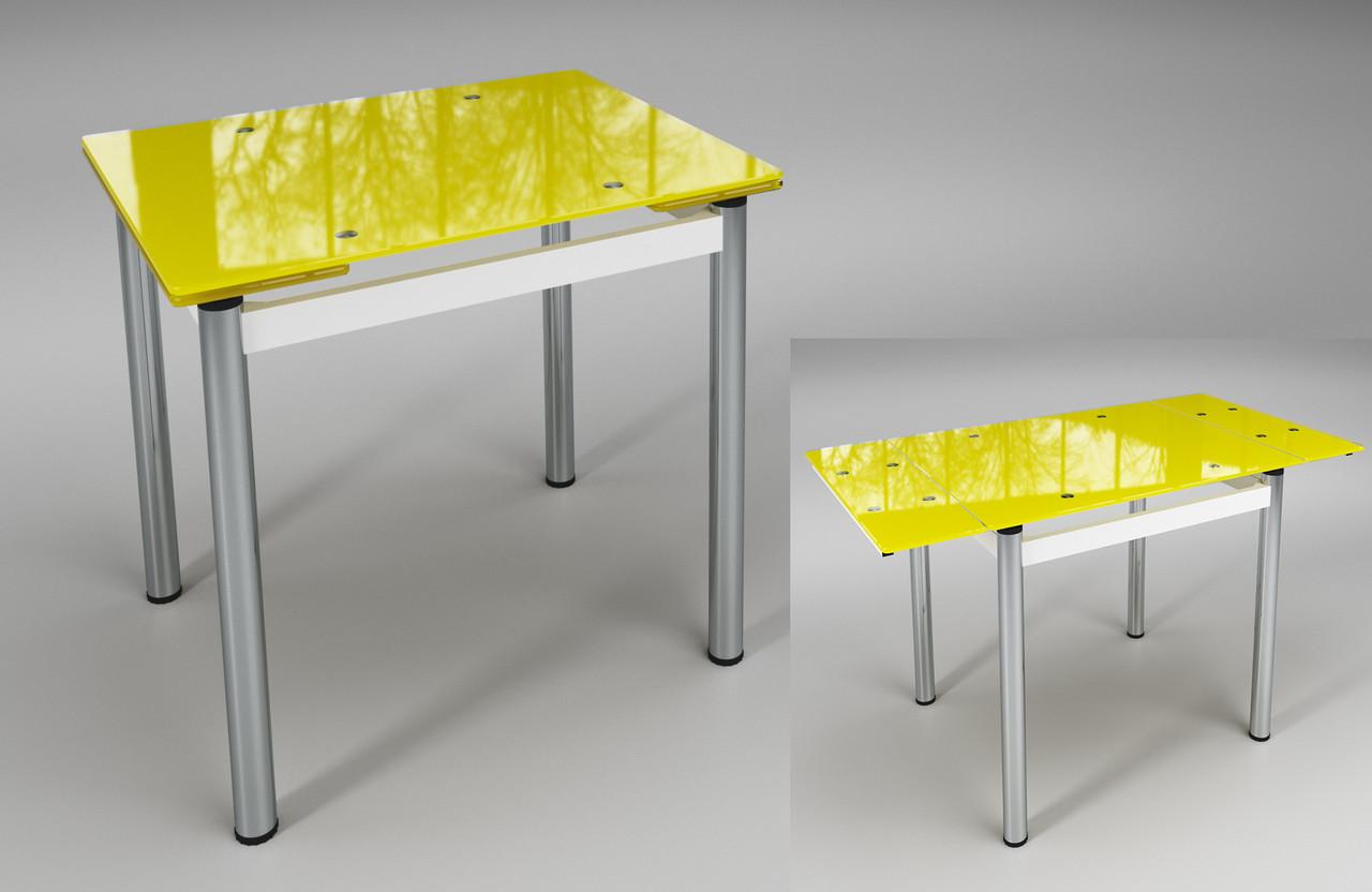 """Стол обеденный раскладной """"Тореро"""" Желтый с белым"""