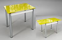 """Стол обеденный раскладной """"Тореро"""" Желтый с белым, фото 1"""