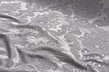 Ткань жаккард для покрывал с крупным узором, цвет серый (№2372), фото 3