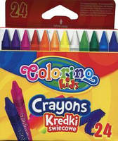 Карандаши восковые 24 цвета, COLORINO, 13895PTR
