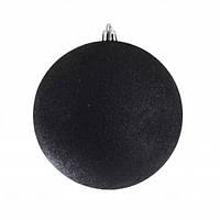 Куля d - 10 см  чорний  глітер