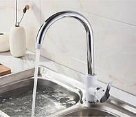 Смеситель для кухни SANTEP 11144W Белый/Хром, фото 1
