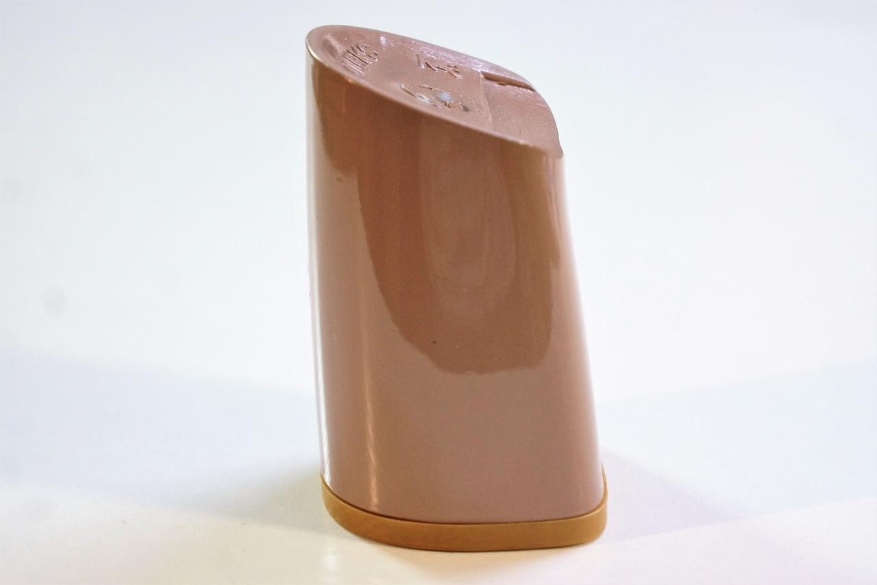Каблук женский пластиковый 8055 Цвет:кофе с молоком р.1-3  h-7,3-7,9 см.