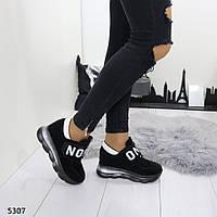 Женские сникерсы черные 5307