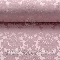 """Ткань жаккард для покрывал """"Дамаск"""", цвет розовой пудры (№2374)"""