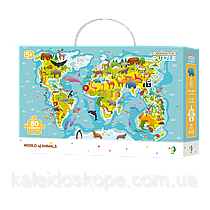 Пазл DoDo Карта мира. Животные