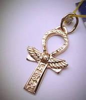 Египетский крест жизни Анкх в золоте 585 пробы
