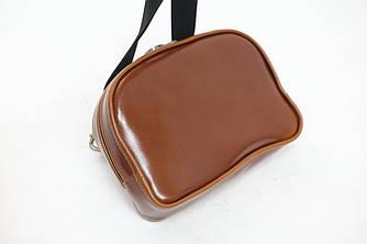 Женская сумка-бананка  кожа глянец