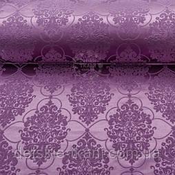 """Ткань жаккард шенилл пике """"Версаль"""", цвет сливовый (№2375)"""