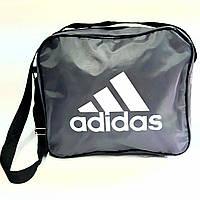 Спортивная школьная сумка 27*32*9,5 серая, фото 1