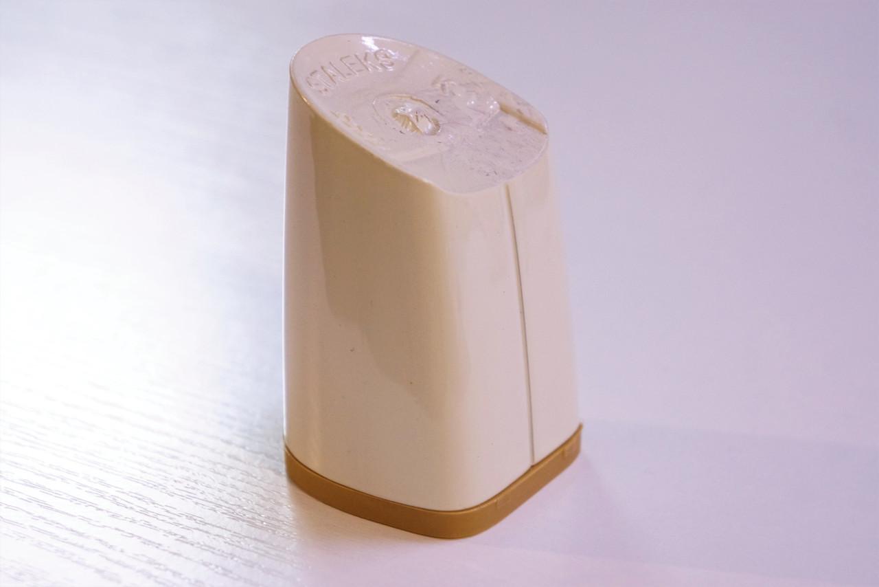 Каблук женский пластиковый 8055 Цвет:слоновая кость  р.1-3  h-7,3-7,9 см.