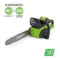 Ланцюгова пила акумуляторна Greenworks GD40CS40K4
