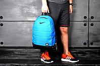 Спортивный рюкзак в стиле Nike голубой