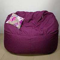 Бескаркасный диван KatyPuf рогожка + подушка в подарок
