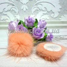 """Клеевой декор """"Помпончик"""" , 30  мм, 1 шт, цвет персиковый"""
