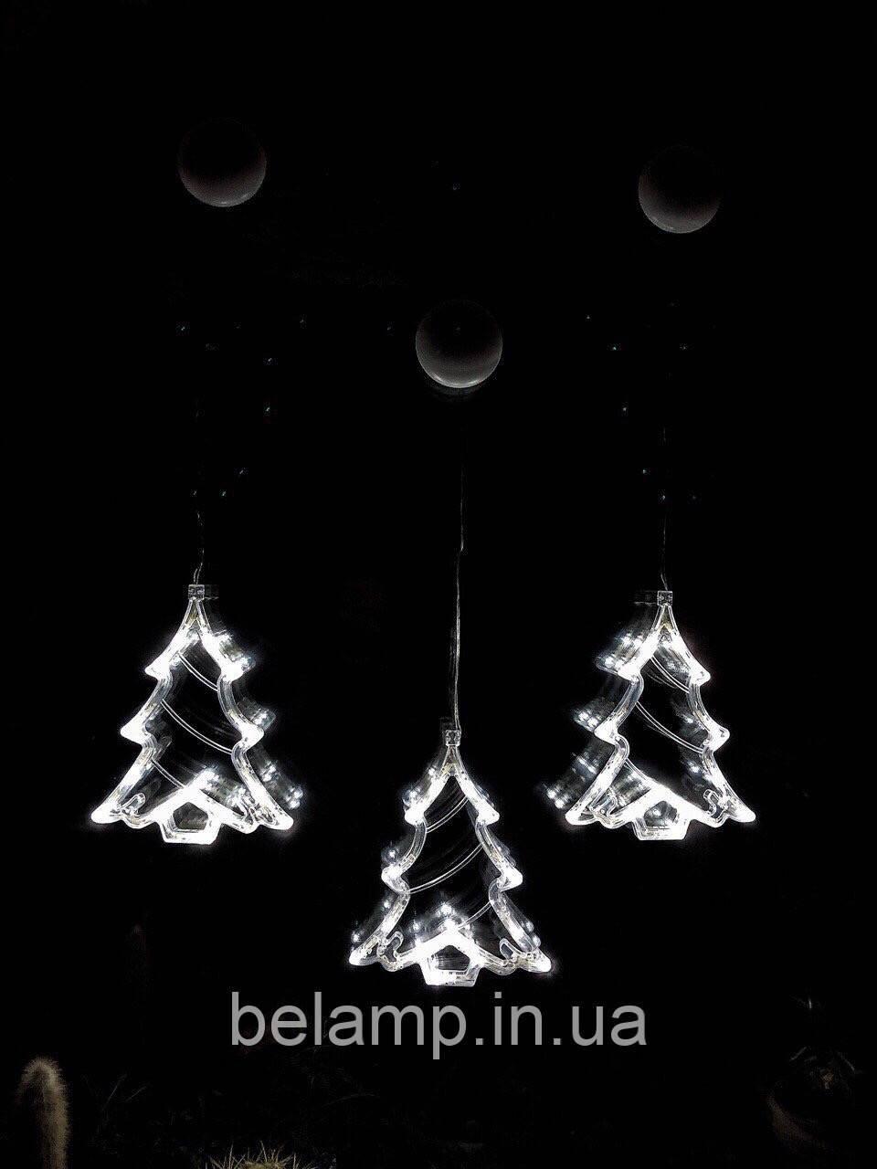 """Новогоднее украшение в виде  светодиодной елки """"Белая елочка"""". Цена  за 1 елочку"""