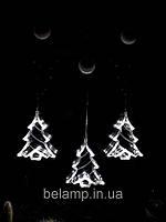 """Новогоднее украшение в виде  светодиодной елки """"Белая елочка"""". Цена  за 1 елочку, фото 1"""