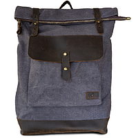 Мужская водонепроницаемая сумка-рюкзак из ткани и кожи ручной работы Лантух ROOTLESS