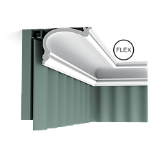 Шторный карниз  Orac Decor C341F,лепной декор из полиуретана.
