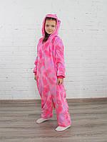 Кигуруми единорог розовый со звездами (детский) ktv0102