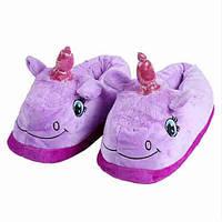 Домашні тапки для кигуруми єдиноріг фіолетовий (без ніжок) ktv0105, фото 1