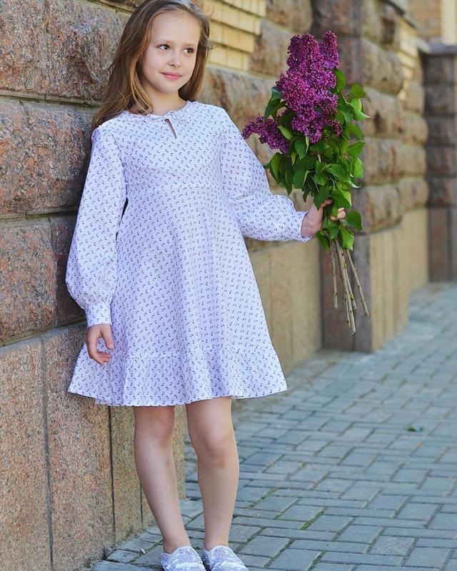 Дитяча літня сукня із бавовни