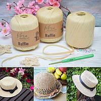 🔥Снова в наличии набор для вязания шляпки «Канотье» цвета Соломка за 199 грн!