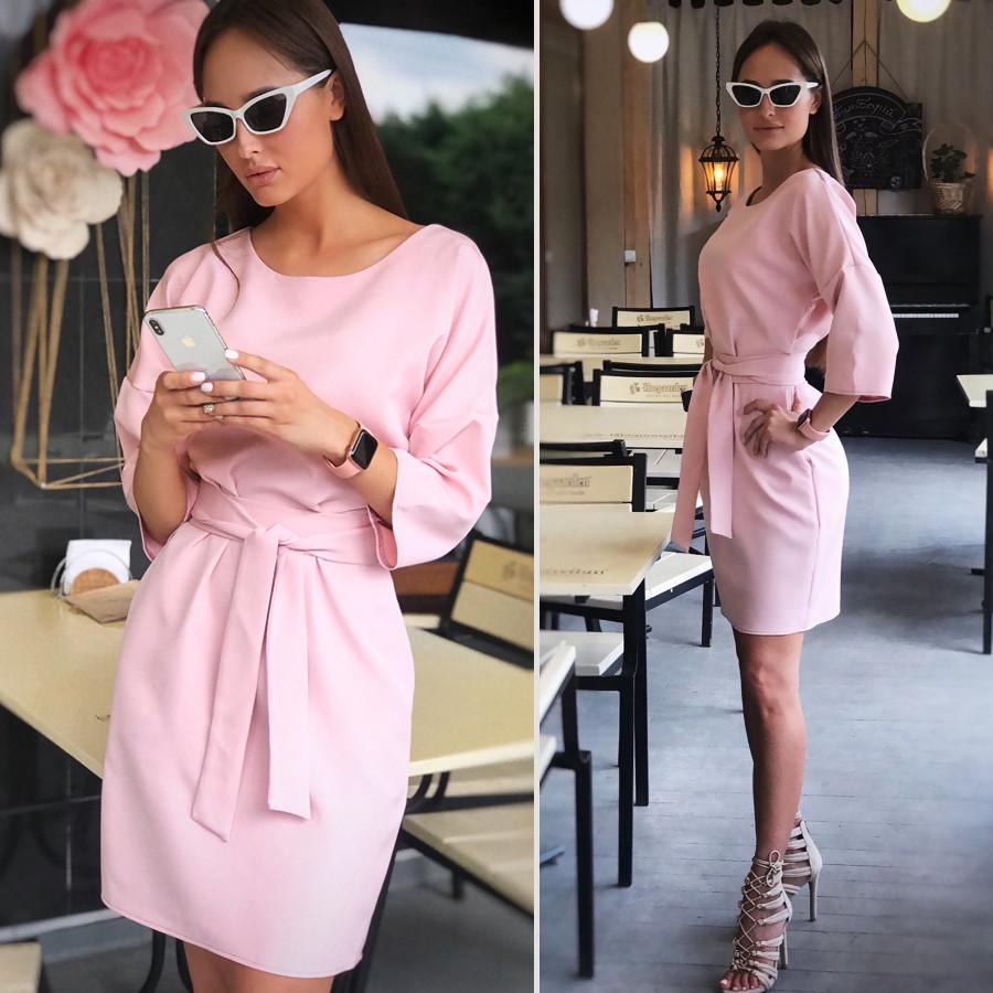 Свободное платье цвета пыльной розы Tina (Код MF-182)