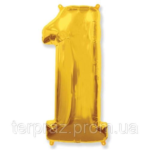 Фольгированные шары цифры Золото от 0 до 9
