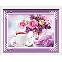 """""""Чайные цветы"""" Набор для рисования стразами"""