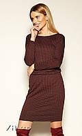 Женское платье Maxie Zaps бордового цвета. Коллекция осень-зима 2019-2020