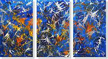 Репродукция модульной картины триптих «Полёт»
