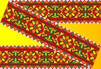 """Схема для вышивки на водорастворимом флизелине """"Орнамент цветной узор"""""""