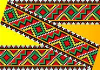 """Схема для вышивки на водорастворимом флизелине """"Орнамент разноцветный"""""""