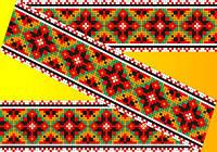 """Схема для вышивки на водорастворимом флизелине """"Орнамент разноцветный узор"""""""