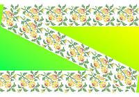 """Схема для вышивки на водорастворимом флизелине """"Узор желтые розочки"""""""