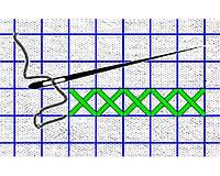 Сетка для вышивки на водорастворимом флизелине Аида 16
