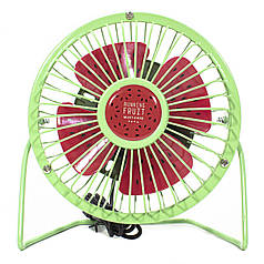 ✪Настольный мини-вентилятор Fan Mini Sanhuai A18 Green + Red питание от USB регулируемая ножка