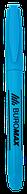 Маркер-текстовыделитель Buromax Jobmax круглый синий