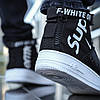 "Кроссовки Nike Air Force Off-white x Supreme hight ""Черные"", фото 4"