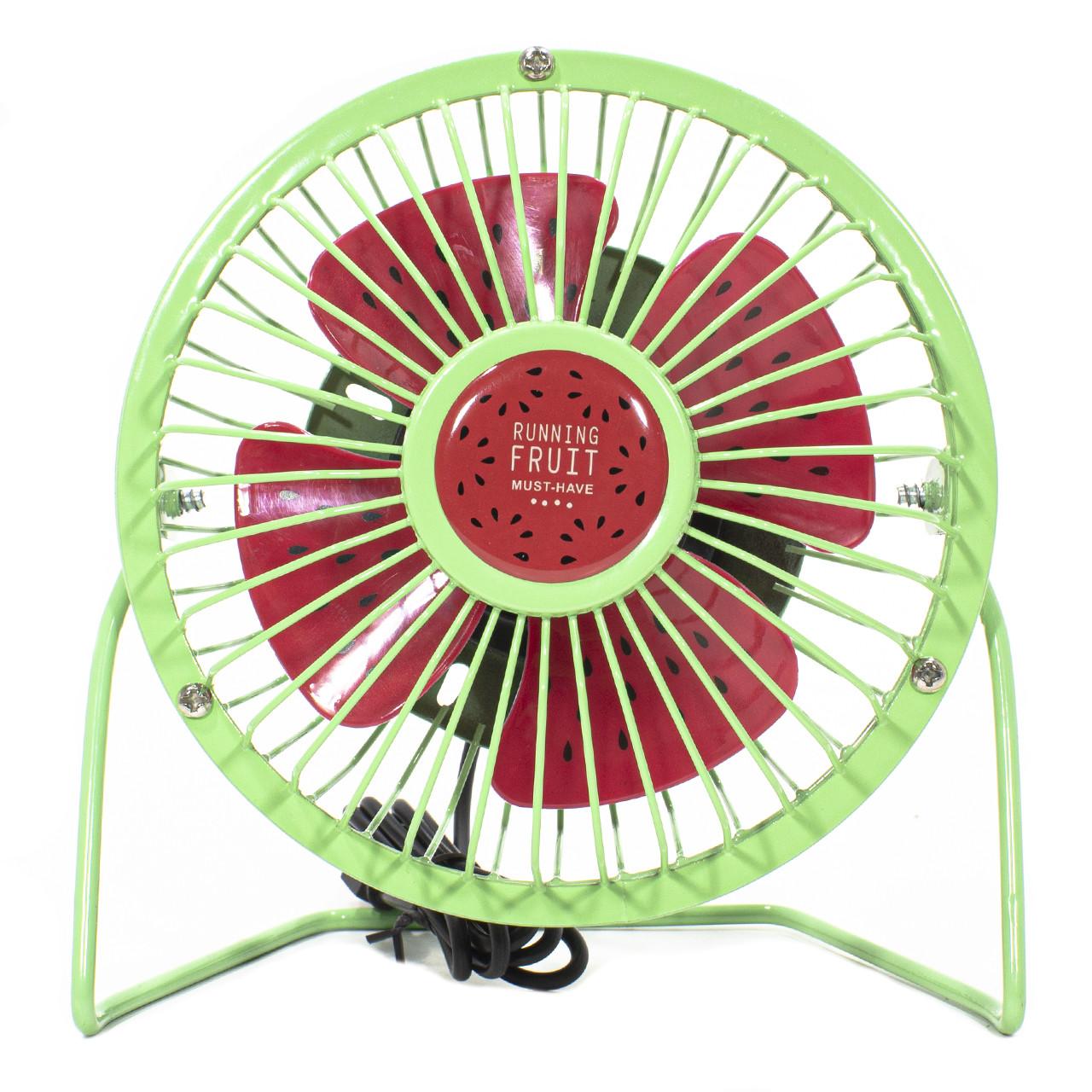 ☛Мини-вентилятор Fan Mini Sanhuai A18 Green + Red USB настольный с регулируемым положением