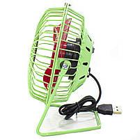 ☛Мини-вентилятор Fan Mini Sanhuai A18 Green + Red USB настольный с регулируемым положением, фото 3