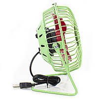 ☛Мини-вентилятор Fan Mini Sanhuai A18 Green + Red USB настольный с регулируемым положением, фото 5