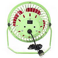 ☛Мини-вентилятор Fan Mini Sanhuai A18 Green + Red USB настольный с регулируемым положением, фото 6